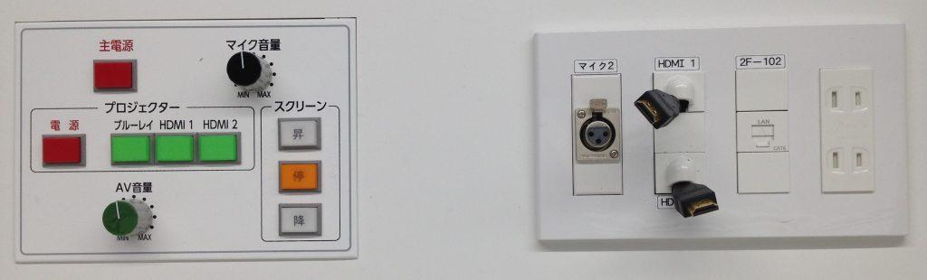 Projector connector (HDMI)